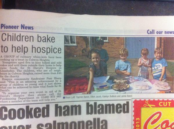 Our wonderful fundraisers in the Pioneer