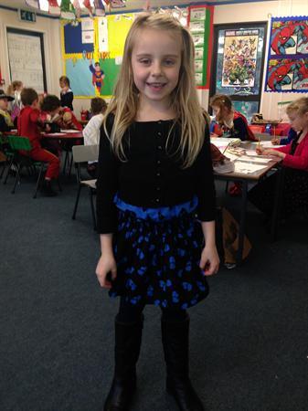 Hallie's hero is Miss McCloskey!
