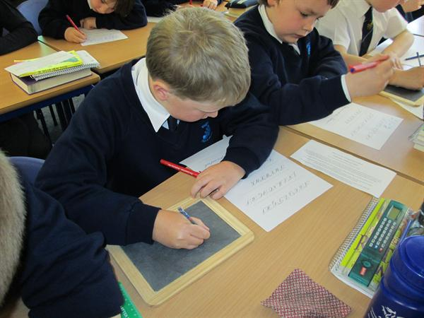 Learning copper plate - like the Victorians