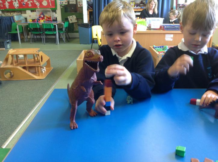 How tall is the T-rex??