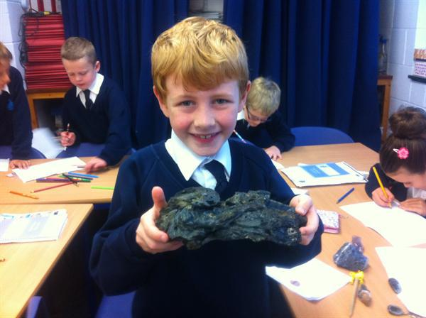 A Geologist, Mrs Routledge, came to talk to us