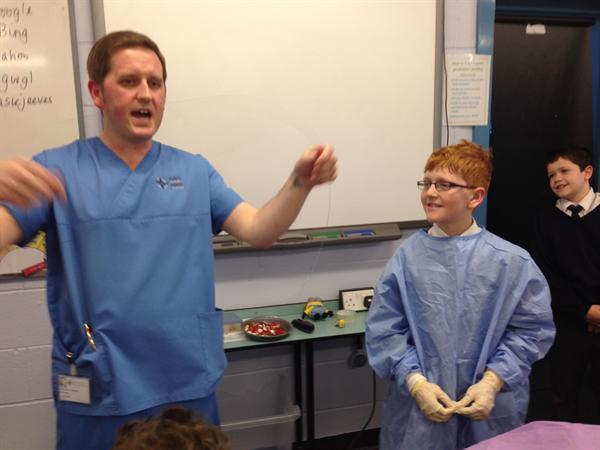 Nurses visit to explain bacteria