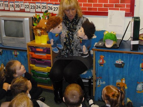 Fflic a Fflac, our Welsh puppets!!