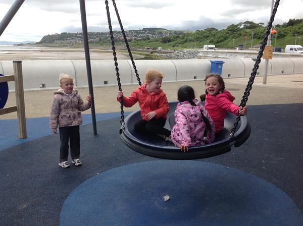We went to the playground!