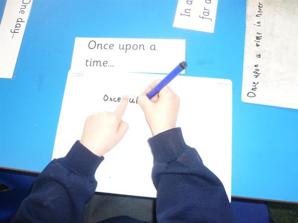 Story Writing- independent; Writing area