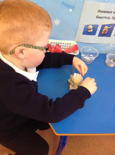 we love making snowmen out of play-dough