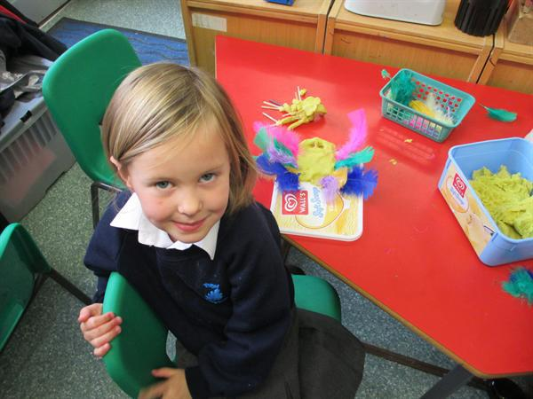 Making nocturnal animals with playdough.