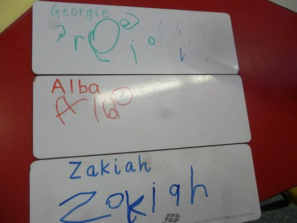 We are getting really good at name writing!