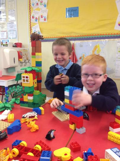 we love building with the duplo