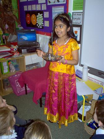 Shruthi from year 3 came to see us