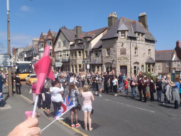 Waiting for the Olympic Torch to arrive