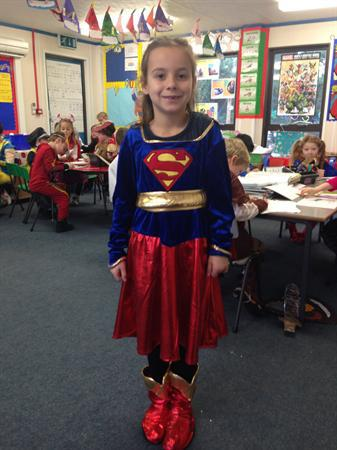 This is Ellie-May as Supergirl!