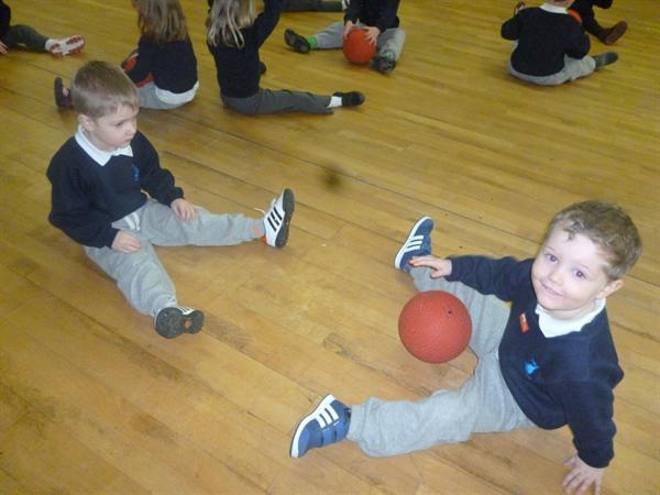 Learning how to send and receive a ball.