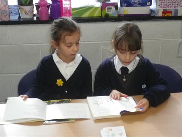 We have read our favourite books with the Infants