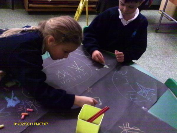 LLC/PD- writing and drawing about fireworks