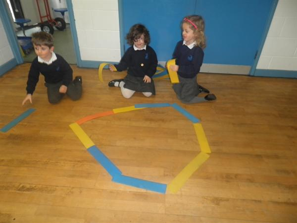 working as a team to make large shapes
