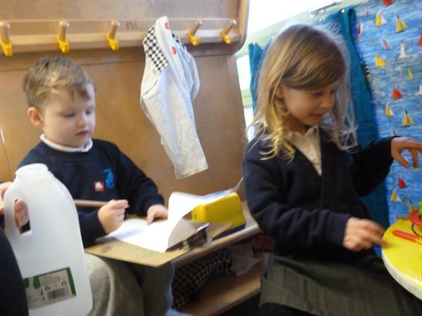 Taking orders in the 'Caffi'