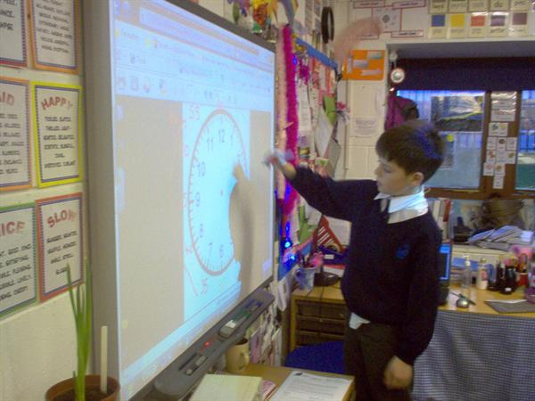Practising telling the time