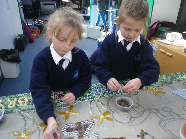 Creating a mosaic for our 25th Anniversary