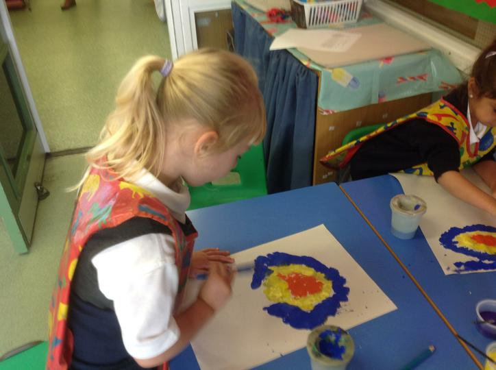 Creating a 'Starry Starry Night' painting