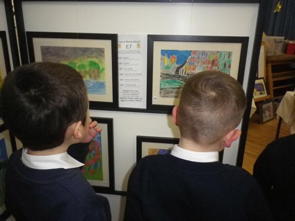 It was lovely to see our work in frames