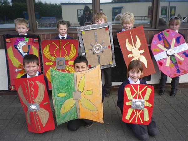 Our wonderful Roman shields-Brenig