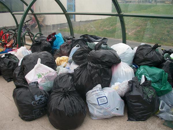 Half a tonne of clothes to be recycled!