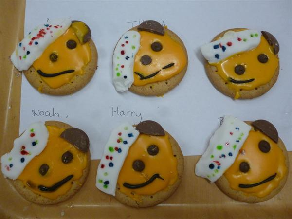 We decorated Pudsey biscuits.
