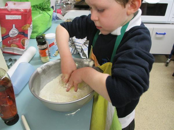 Baking biscuits