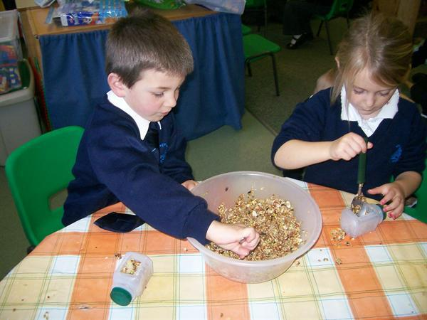 We then filled our milk cartons with the mixture.