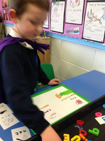 reading and making cvc words.
