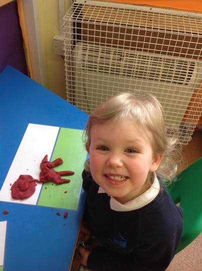 making Welsh dragons with play-dough