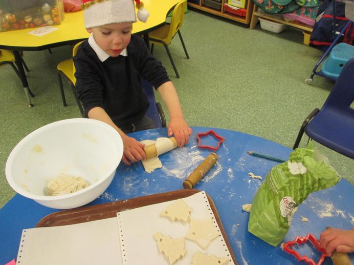 Salt dough decorations.