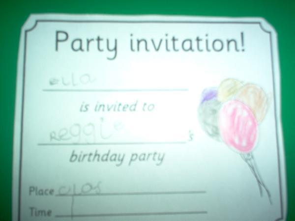 We made party invitations.