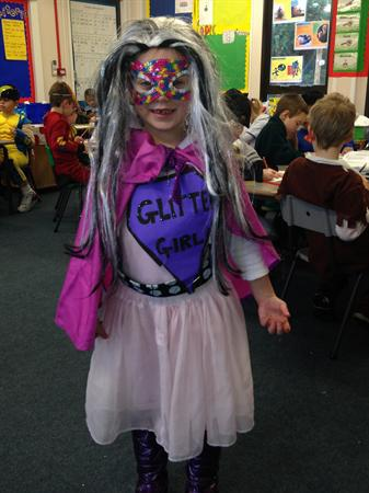 This is Olivia as Glitter Girl!