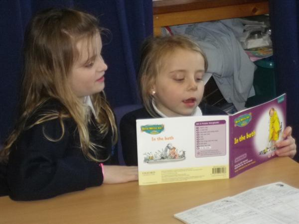 We have shared our books with the Infants