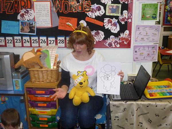 Meeting Pudsey Bear!