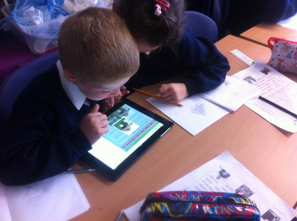 Using i pads to research The Celts