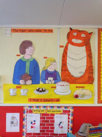 we liked painting the tiger who came to tea!