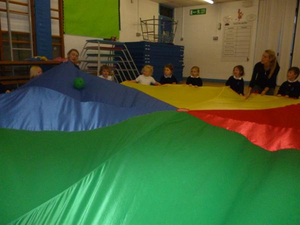 Team building using the parachute