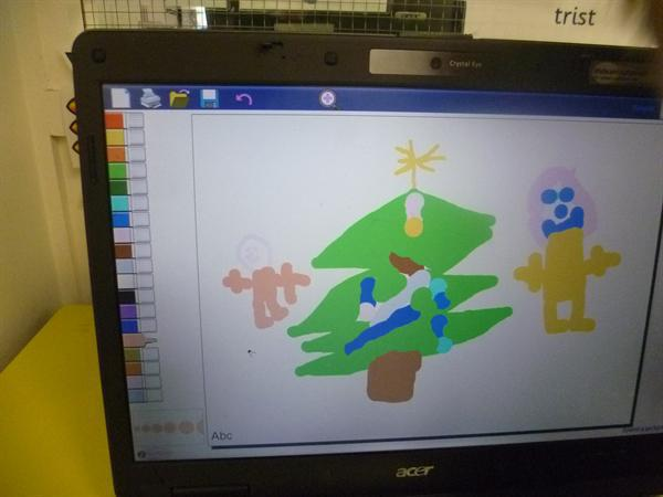 ICT/CD- making christmas pictures