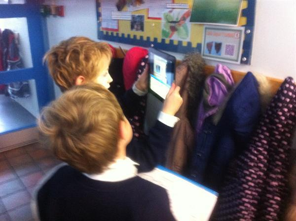 QR Reader Treasure Hunt around the School
