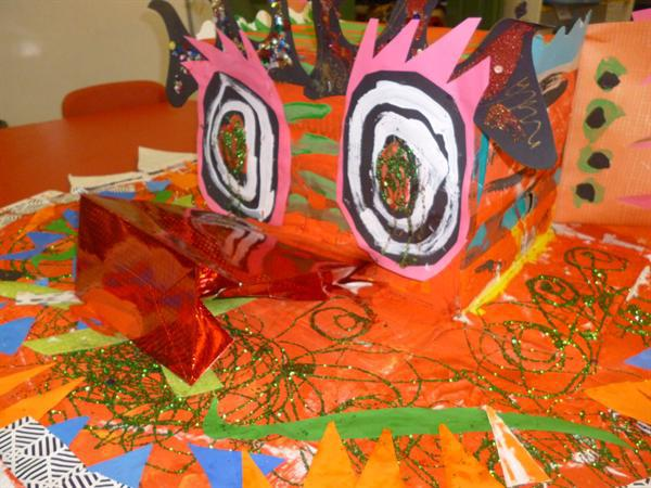 The children helped to create this amazing dragon!