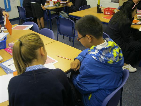 Sharing our learning with our Chinese Friends