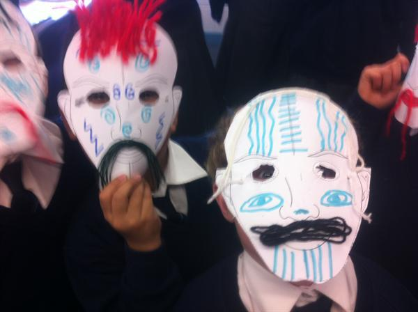Celtic Warriors face masks!