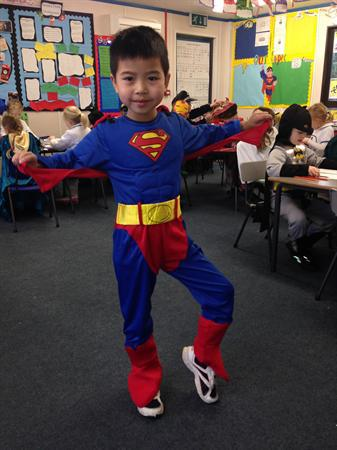 This is Vin as Superman