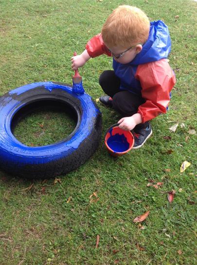 fun painting tyres
