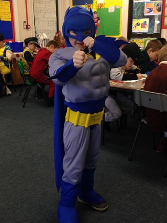 Callum is dressed as Batman!