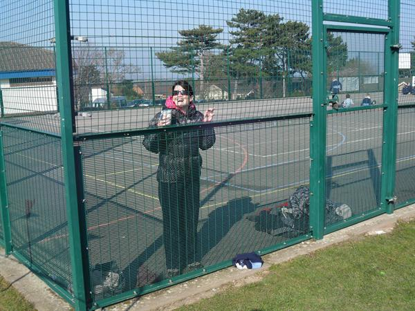 """Mrs Conchie trying to """"get out""""!"""