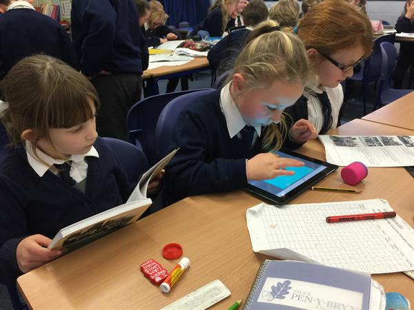 Creating local history books on the i-pads